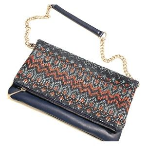 NEW Express Colorful Stitched Bag/Clutch